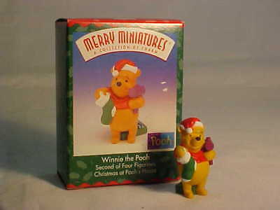 1999 Christmas at Pooh's House - #2 Winnie the Pooh - Christmas Merry Miniatures