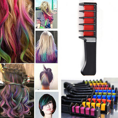 1pc Temporary Dye Colour Hair Chalk Soft Pastel Cream Comb Salon Hair Brush PL