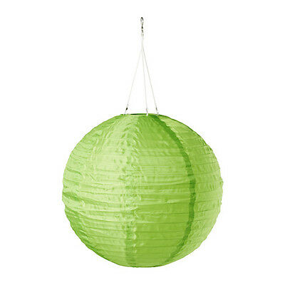 "IKEA SOLVINDEN Solar Powered LED Green Pendant Lamp 12 "" Outdoor light hanging"