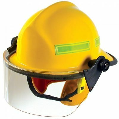 "Yellow Standar Fire Dex 911 Helmet ""new""  & 4"" Visor # 911H712 (165137)"