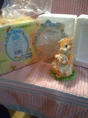 Enesco My Blushing Bunnies 'You're A Blessing From Above' NIB Bunny Figurine.