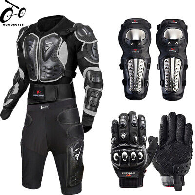 Motocross Jacket Racing Body Armor Motorcycle Protectors knee Pad gloves Support