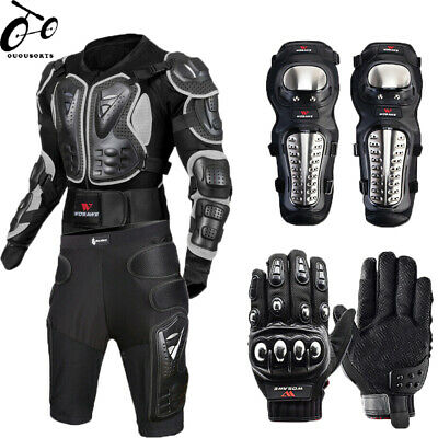 Motorcycle Jacket Motocross Racing Body Armor Protectors knee Pad gloves Support