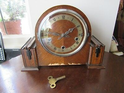 Vintage 1930's Enfield Westminster chime mantel Clock