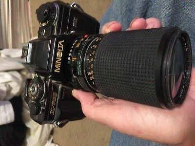 MINOLTA  X-700  CAMERA AND 135mm  LENSE   PERFECT WORKING ORDER