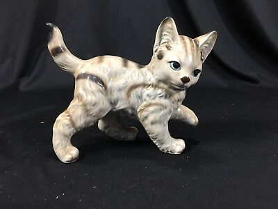 "Vintage Ceramic Norleans Cat Figurine Made in Japan 4"" Tall"