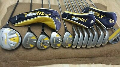 Acuity Turbo Max Men's 13 Piece Golf Set 3 Woods 2 Hybrids 6 Irons Wedge Putter