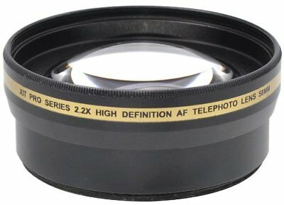 Xit XT2X58 58mm 2.2x High Definition Telephoto Lens  - New! Fast Free Shipping!