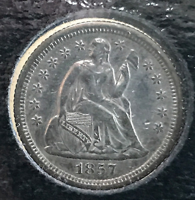 1857 O 10c Liberty Seated Dime AU Cleaned New Orleans Mint