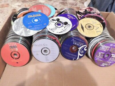 Lot of 100 Christian, Jesus praise, religious cds - Discs only - FREE SHIPPING!