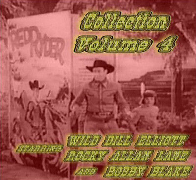 Wild Bill Elliott & Allan Lane Red Ryder IV ~ 2 DVD ~ 4 Great Westerns