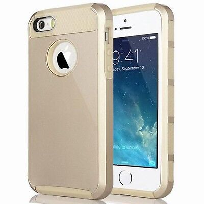 For iPhone 6 6S Case Hybrid Hard Heavy Duty Shockproof Rubber Cover gold