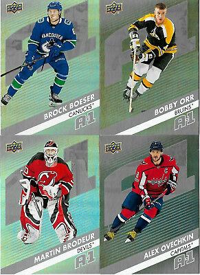 Brock Boeser Rc / Bobby Orr Ud Overtime 2017-18 ( A-1 ) Pick Your Card   Wow!!
