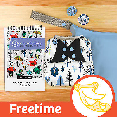 ' TREEmendous '   DOODLES series limited edition BumGenius  Freetime Nappy