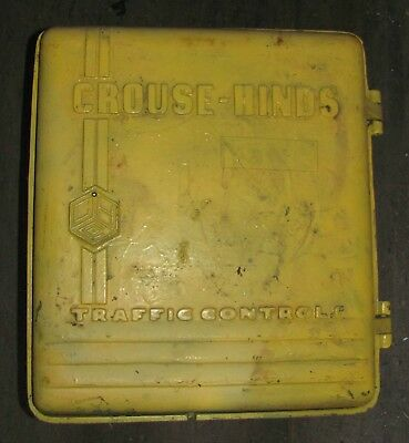 Crouse Hinds PCN Traffic Signal Light Control cabinet with back panel.