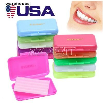US Dental Orthodontics Wax 10 Scents Fit Bracket Braces Gum Irritation