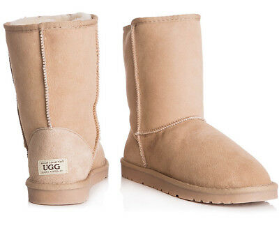 OZWEAR Connection Unisex Classic 3/4 Ugg Boot - Sand- AU 10M / 12W (S101)