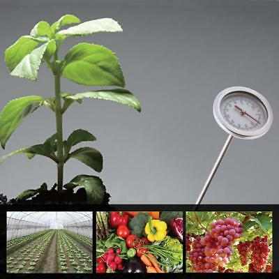 """20"""" Compost Soil Thermometer Stainless Steel Probe Garden Plant Grouth Detector"""