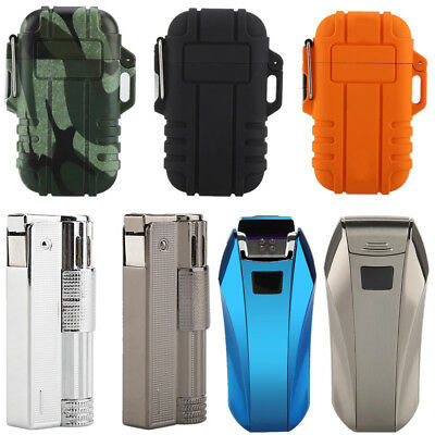 Windproof USB Dual Arc Cigarette Lighter Recharge Flameless Electric Lighter JS