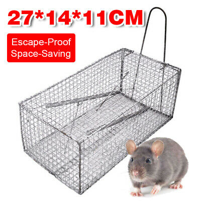 25X14X11cm Humane Trap Live Small Animal Possum Cat Rabbit Hare Cage Catch