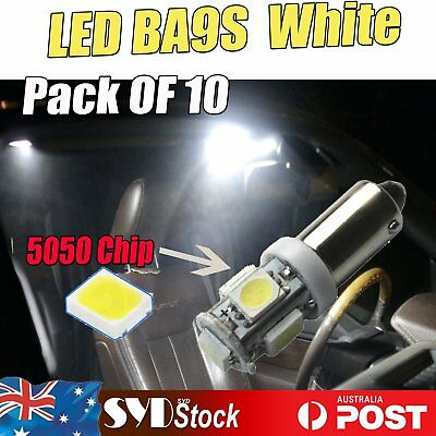BA9S Led White 5050 5SMD Bayonet Wedge Car Map Dome Read Stop Light(Pack Of 10 )