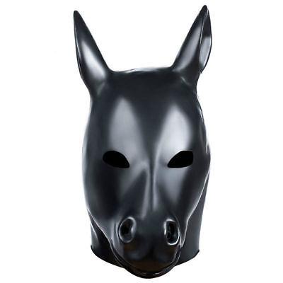Horse Animal Rubber Mask Fetish LarpGears Halloween Costume Party Latex Hood