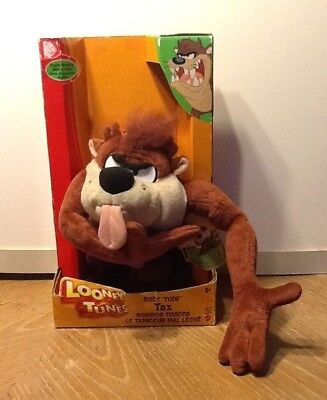 NIB Looney Tunes Taz Tasmanian Devil Plush Stuffed Toy Talking Sound Mattel 2003