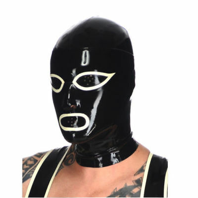 New Latex Mask Rubber Unisex Hood with Zipper for Party Wear Catsuit Unique