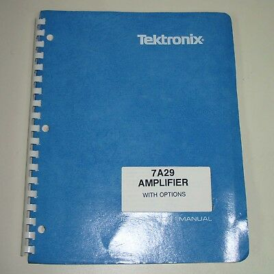 Tektronix 7A29 Amplifier with Options Instruction Manual (P/N 070-2320-00)