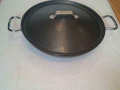 """Calphalon Commercial 13"""" Everyday Pan with Cover, Anodized Aluminum, 1382"""