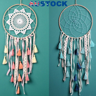 Chic Large Dream Catcher Lace Tassel Handmade Wall Hanging Home Car Decor Gift