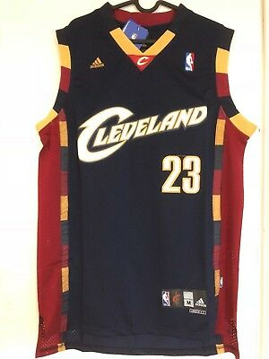 e8e1a3d4f NWT LEBRON JAMES #23 Cleveland Cavaliers Navy Throwback Jersey Men's ...