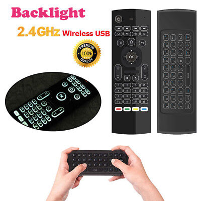 2.4GHz Mini Wireless Keyboard Backlight Air Mouse Remote Control for KODI TV Box