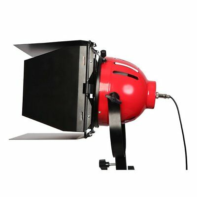 LED Red Head Dimmable Continuous Light 65W Photo Studio Lamp + Barndoor
