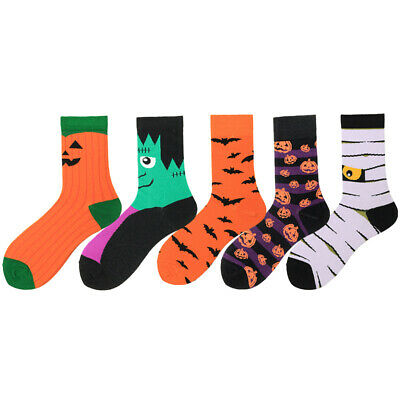 Mens Combed Cotton Socks Warm Halloween Design Fancy Casual Dress SOX For Gifts