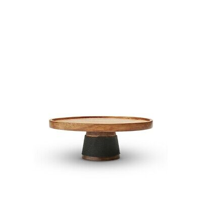 Salt & Pepper Madeira Cake Stand 30 x 11cm Brand New