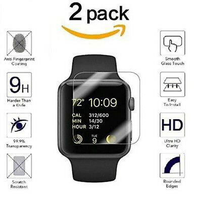 2PK For Apple Watch ( Series 3 ) 38mm/42mm Tempered Glass Screen Protector