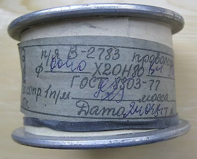 "Nickel-Chrom-0,04 mm (0,0016 "") * 20 m, 47 AWG."