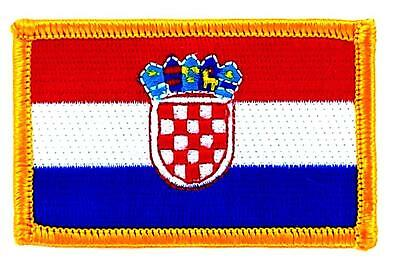 Patch écusson brodé Drapeau  CROATIE Croate Thermocollant Insigne Blason patche