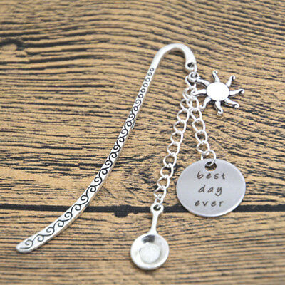 rincess Rapunzel Inspired bookmark best day ever Silver TONE crystals bookmark