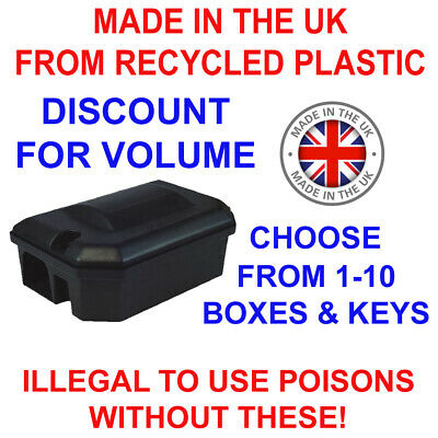 PROFESSIONAL Rodent Rat/Mice/Mouse Bait/Trap Box Boxes No Poison CHILD/PET PROOF