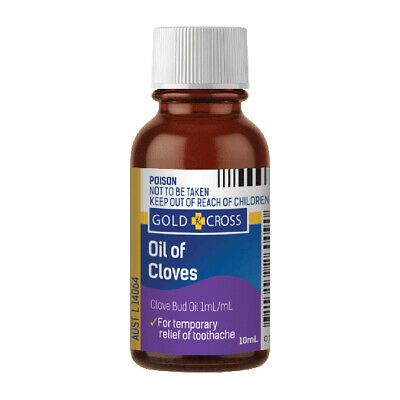 Gold Cross Clove Oil 10ml Toothache Temporary Relief Antiseptic Pain