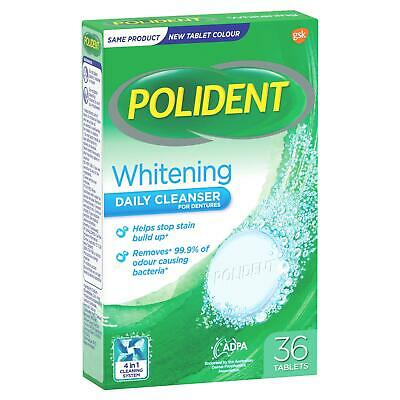 Polident Denture Cleanser Tablets 36 Whitening Denture Whitener Oral Care