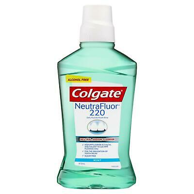 Colgate NeutraFluor 220 Fluoride Mouth Rinse Alcohol Free 473ml Oral Mouthwash
