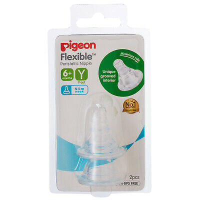 Pigeon Peristaltic Teat 6,7 Months+ Breastfeeding Bottle Nipple Teat