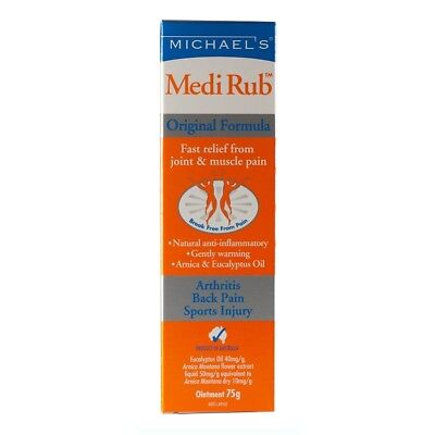 Michaels Medi Rub 75g for Joint Muscle Pain Arthritis Back Pain Relief