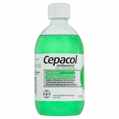 Cepacol Solution Mint 500ml Anti-Bacterial Mouthwash Dental Plaque Oral Care