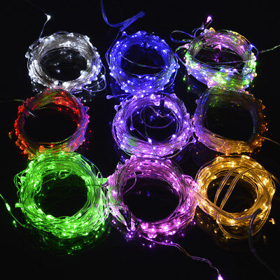 10M LED String Fairy Lights 100leds Battery Operated IR Remote Control Display