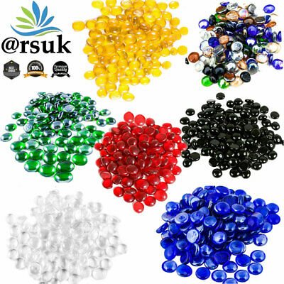 Glass Pebbles for Aquarium Decoration Blue Black Green Transparent 200pcs (1kg)