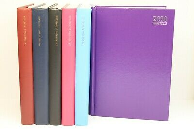 2020 A4 '2 PAGES PER DAY' HARDBACK DIARY Reduced price due to minor cover damage